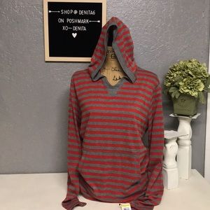 NWT Men's American Rag Stripe Hooded Long Sleeve M
